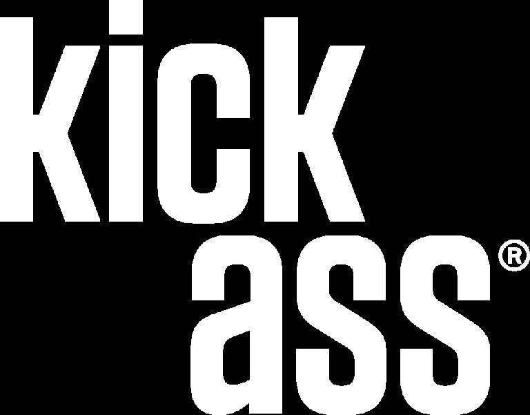 kickass logo hvid