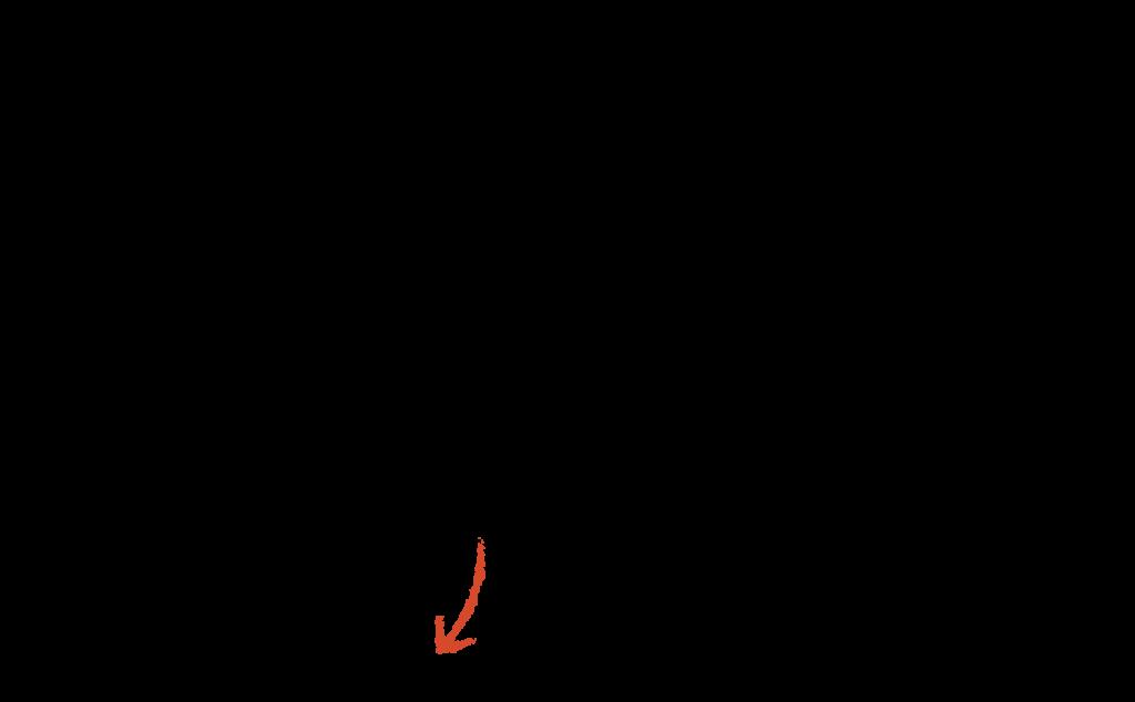 Logo med orange pil
